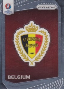 2016 Panini Prizm Euro Country Logos Belgium