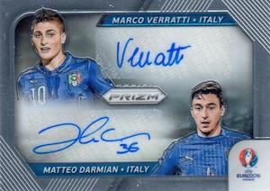 2016 Panini Prizm Euro Dual Signatures Italy