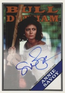 2016 Topps Archives Baseball Bull Durham Autographs Susan Sarandon as Annie Savoy