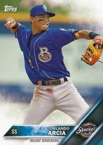 2016 Topps Pro Debut Baseball Base 8 Orlando Arcia