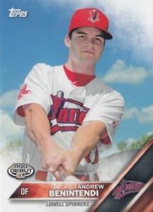 2016 Topps Pro Debut Baseball Variations Andrew Benintendi