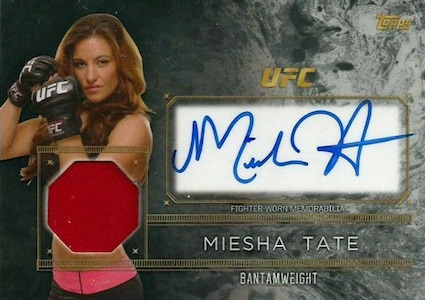 2016 Topps UFC Top of the Class Autograph Relic Miesha Tate