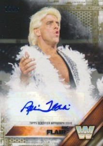 2016 Topps WWE Autograph Ric Flair Gold
