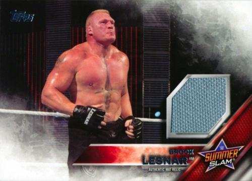 2016 Topps WWE SummerSlam 2015 Mat Relic Brock Lesnar