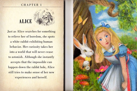 2016 Upper Deck Goodwin Champions Alice in Wonderland Booklet Chapter 1