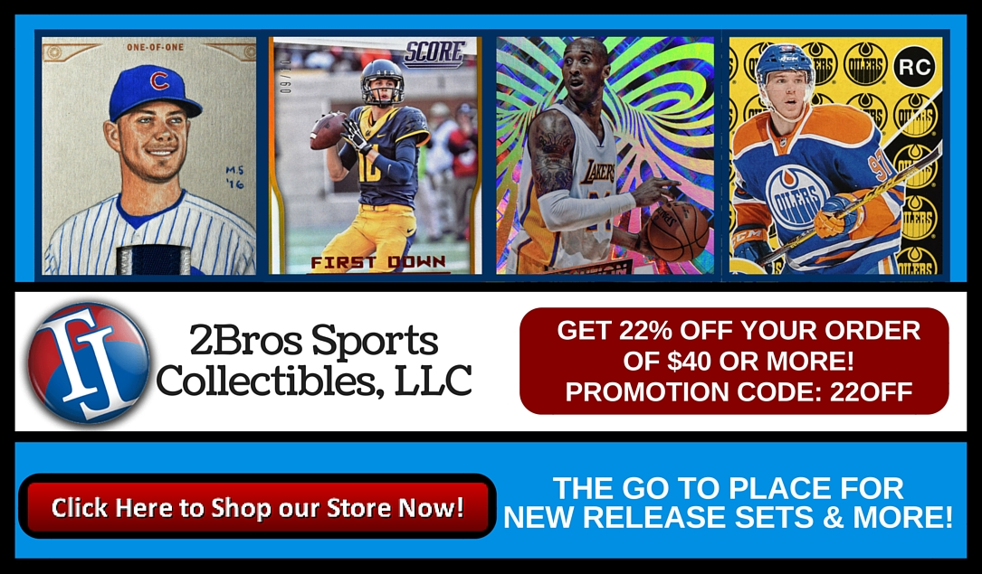 Press Release: 2Bros Sports Collectibles Specializes in New Singles and Set-Builders 1