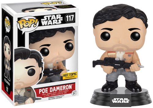 Funko Pop Star Wars The Force Awakens 117 Poe Dameron gun Hot Topic