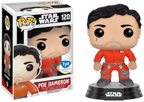 Funko Pop Star Wars The Force Awakens 120 Poe Dameron all-orange jumpsuit FYE