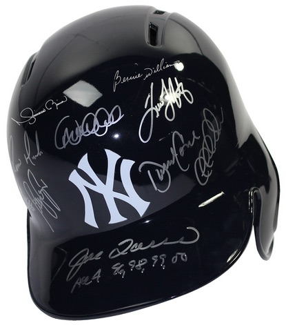 Steiner Yankees Dynasty Collection Signed Batting Helmet