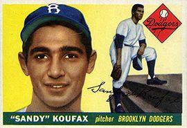 1955 Topps Sandy Koufax 270x300