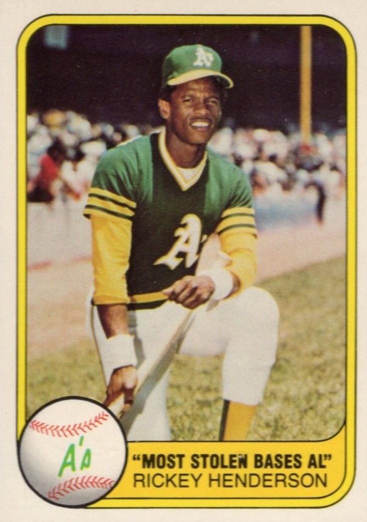Top 10 Rickey Henderson Baseball Cards 2