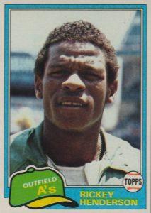Top 10 Rickey Henderson Baseball Cards 7