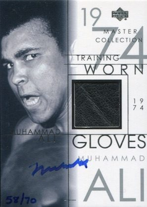 2000 Upper Deck Muhammad Ali Master Collection Autograph Gloves