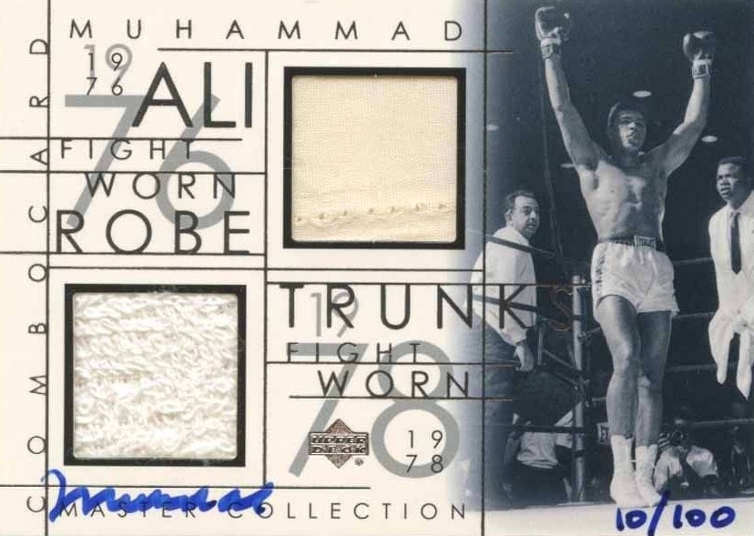2000 Upper Deck Muhammad Ali Master Collection Autograph Robe Trunks Relic