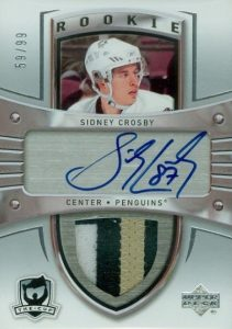 2005-06 Upper Deck The Cup Sidney Crosby RC #180 Autographed Patch