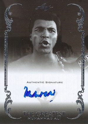 2012 Leaf The Greatest Muhammad Ali Autograph