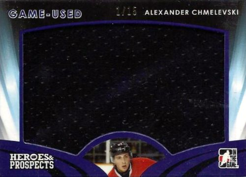 2015-16 Leaf ITG Heroes & Prospects Hockey Game Used Jersey Alexander Chmelevski