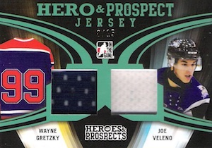 2015-16 Leaf ITG Heroes & Prospects Hockey Hero and Prospect Dual Jersey Gretzky Veleno