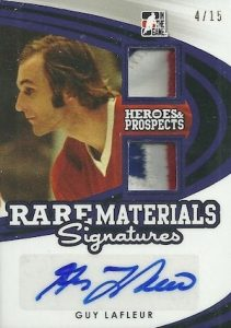 2015-16 Leaf ITG Heroes & Prospects Hockey Rare Materials Signatures