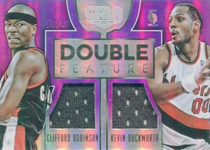 2015-16 Panini Gala Basketball Double Feature Memorabilia Purple