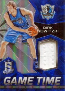 2015-16 Panini Spectra Basketball Game Time Materials Dirk Nowitzki