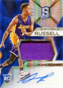2015-16 Panini Spectra Basketball RC Jersey Auto D'Angelo Russell