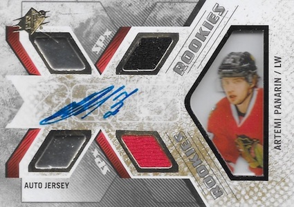 Artemi Panarin Rookie Card Checklist and Gallery - NHL Rookie of the Year 6