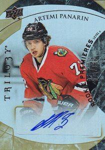 Artemi Panarin Rookie Card Checklist and Gallery - NHL Rookie of the Year 14