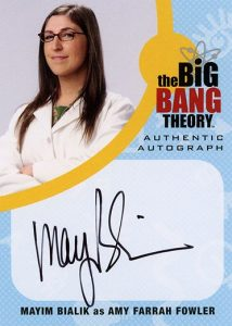 2016 Cryptozoic Big Bang Theory Season 6 and 7 Autograph Mayim Bialik as Amy Farrah Fowler