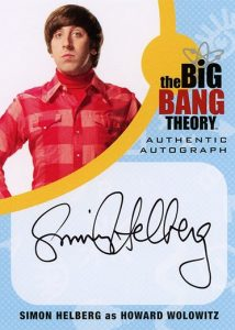 2016 Cryptozoic Big Bang Theory Season 6 and 7 Autograph Simon Helberg as Howard Wolowitz