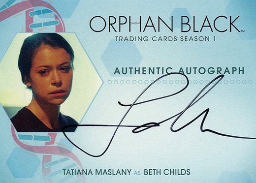 2016 Cryptozoic Orphan Black Season 1 Autograph Tatiana Maslany as Beth Childs