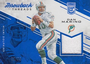 2016 Donruss Elite Football Throwback Threads