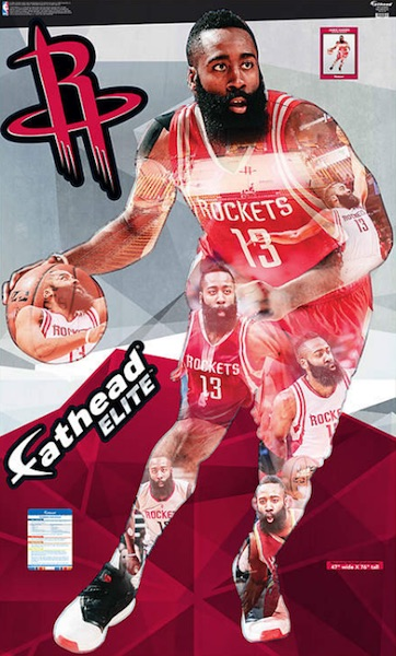 2016 Fathead Elite NBA Wall Decals James Harden