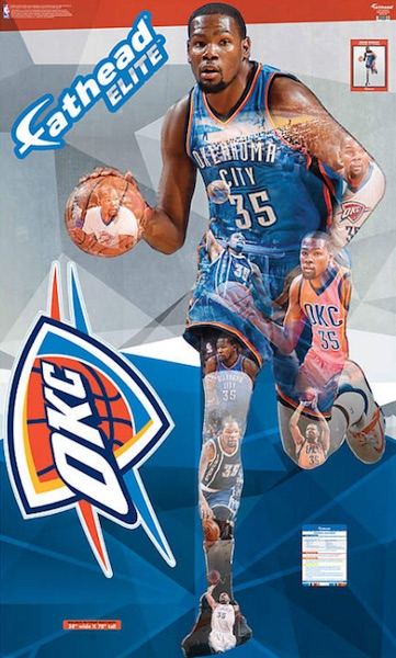 2016 Fathead Elite NBA Wall Decals Kevin Durant