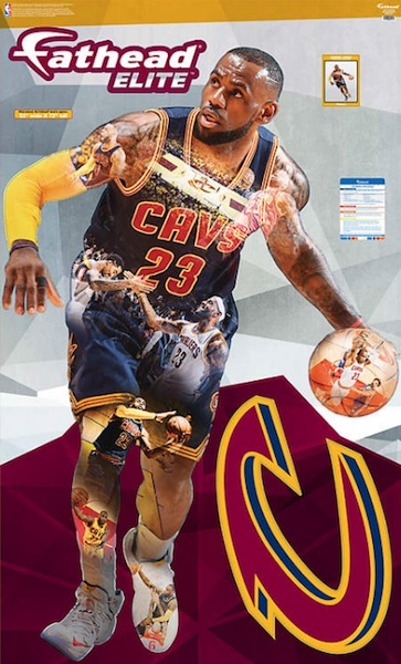 2016 Fathead Elite NBA Wall Decals LeBron James