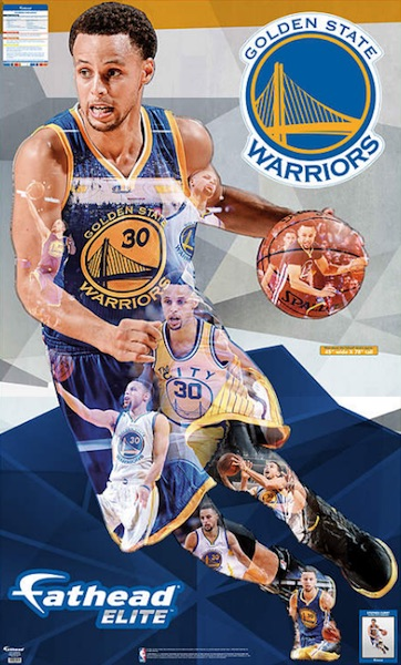 2016 Fathead Elite NBA Wall Decals Stephen Curry