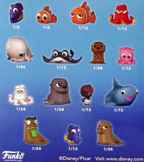 2016 Funko Finding Dory Mystery Minis odds box