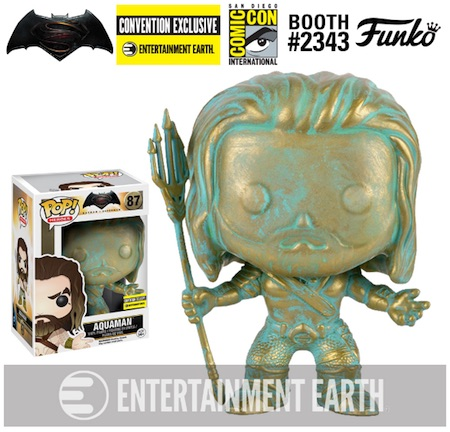 2016 Funko San Diego Comic-Con Exclusives Aquaman Patina Entertainment Earth