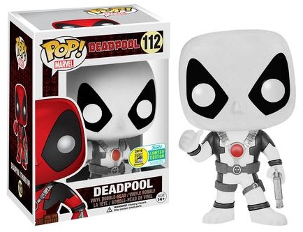 2016 Funko San Diego Comic-Con Exclusives Pop Deadpool #112 - Thumbs Up Black & White