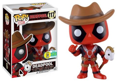 2016 Funko San Diego Comic-Con Exclusives Pop Deadpool #117 Cowboy Deadpool