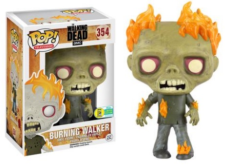 2016 Funko San Diego Comic-Con Exclusives Pop Walking Dead #354 Burning Walker