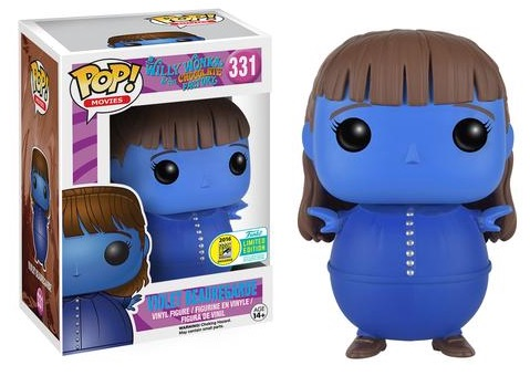 2016 Funko San Diego Comic-Con Exclusives Pop Willy Wonka #331 Violet Beauregarde