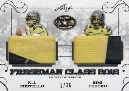 2016 Leaf Metal US Army All-American Bowl Football Freshman Class 2016 Relics
