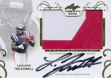 2016 Leaf Trinity Football Patch Autograph Treadwell