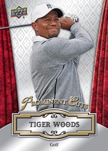 2016 National Sports Collectors Convention Exclusive Upper Deck Base Prominent Cuts Tiger Woods