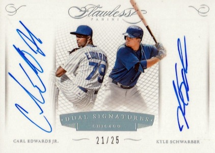 2016 Panini Flawless Baseball Dual Signatures