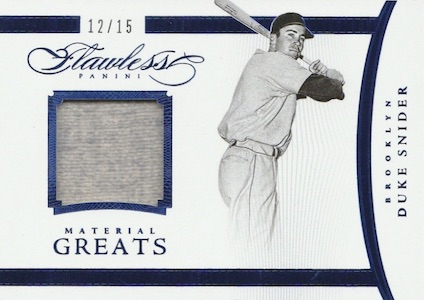 2016 Panini Flawless Baseball Material Greats