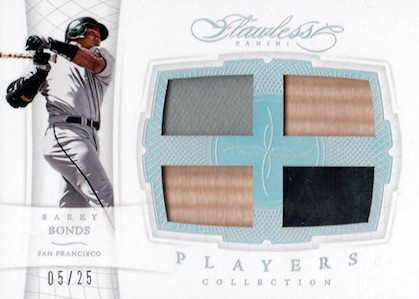 2016 Panini Flawless Baseball Players Collection bonds