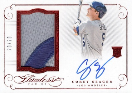 2016 Panini Flawless Baseball Rookie Patches Autographs Seager