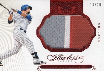 2016 Panini Flawless Baseball Rookie Patches Schwarber